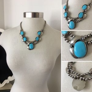 Jewelry - 🌺Vintage Native American Large Turquoise Necklace
